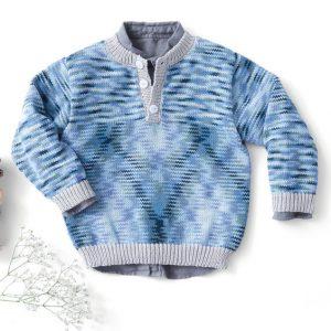 Modèle pull bleu enfant Phil Multico