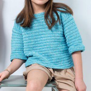 Modèle pull bleu enfant Phil Solei