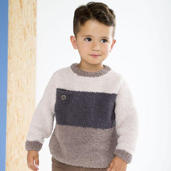 Modèle pull tricolore Enfant