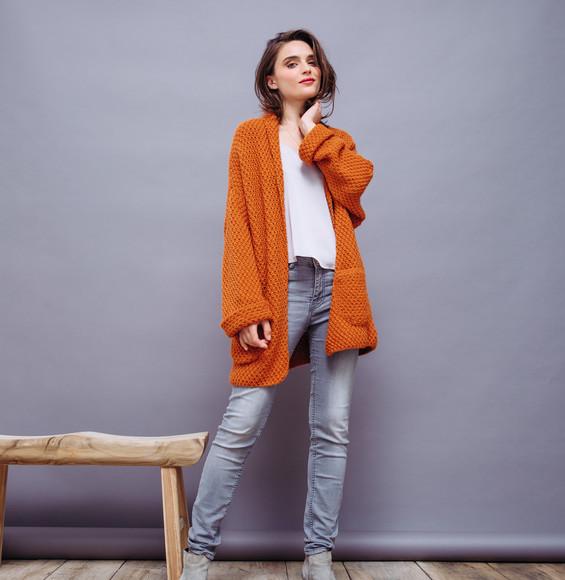 mod le veste orange femme partner 6 aux doigts de f e. Black Bedroom Furniture Sets. Home Design Ideas