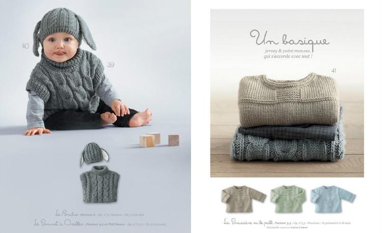 aux doigts de f e catalogue n 74 phildar b b automne. Black Bedroom Furniture Sets. Home Design Ideas