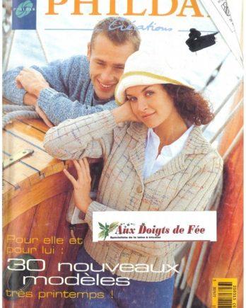 Catalogue PHILDAR N° 315 printemps 1999 Pour elle, pour lui 30 nouveaux modèles très printemps